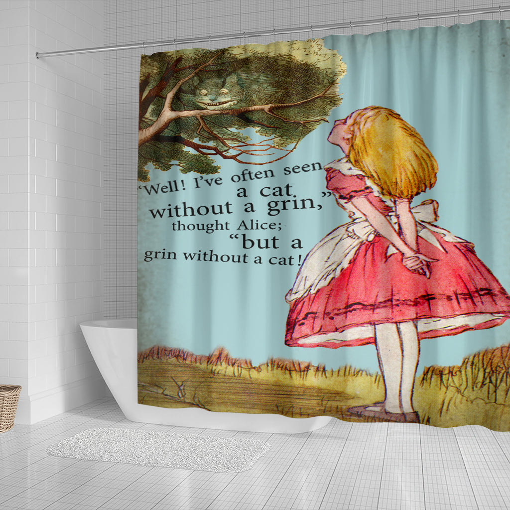 A Cat Without A Grin Shower Curtain - STUDIO 11 COUTURE