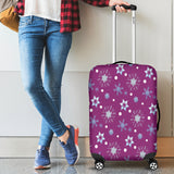 Frozen Snowing Luggage Cover