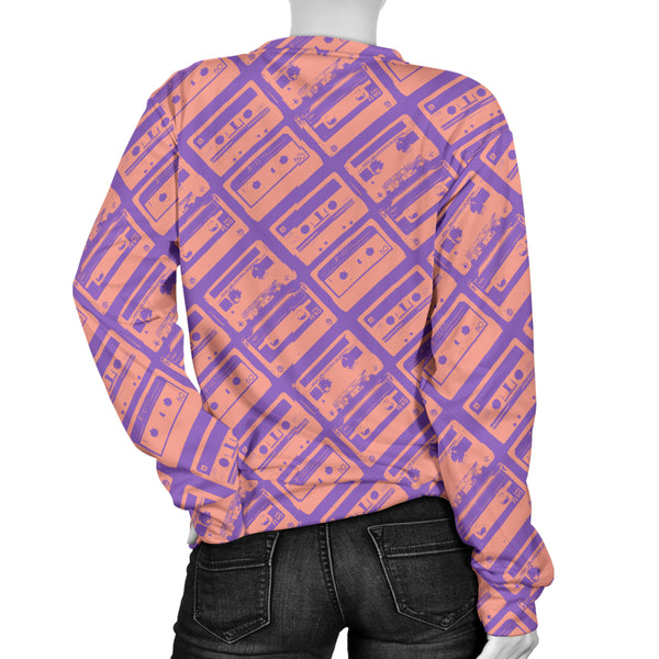 Custom Made Printed Designs Women's Sweater 80's Boombox 03