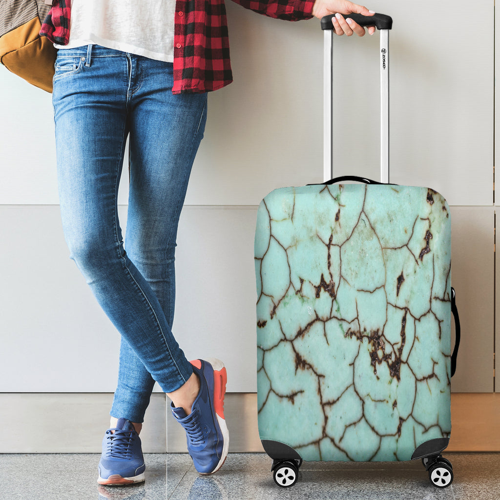 Cracked Dirty Marble Tile Luggage Cover - STUDIO 11 COUTURE