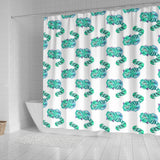 Green Cheshire Cat Alice In Wonderland Shower Curtain - STUDIO 11 COUTURE