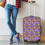 Purple Candy Corn Halloween Luggage Cover