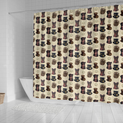 Steampunk 10 Shower Curtain - STUDIO 11 COUTURE