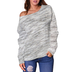 Women Teen Off Shoulder Sweater Animal Skin Texture 1-13