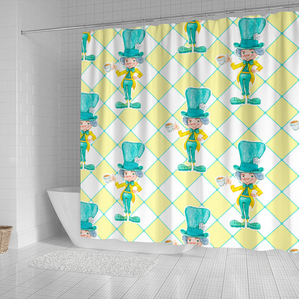 The Mad Hatter Alice In Wonderland Shower Curtain