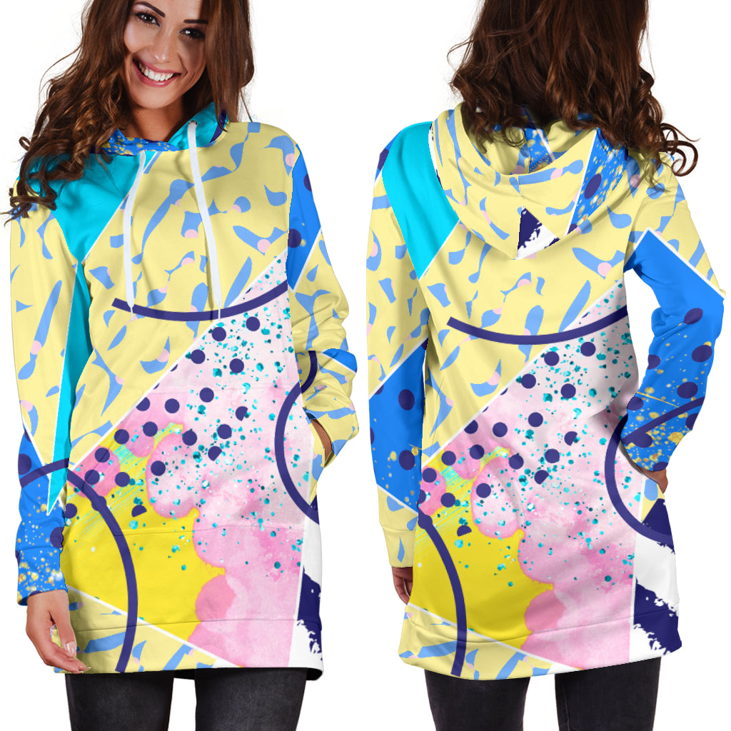 80s Twist and Shout Fashion Girl Women's Hoodie Dress