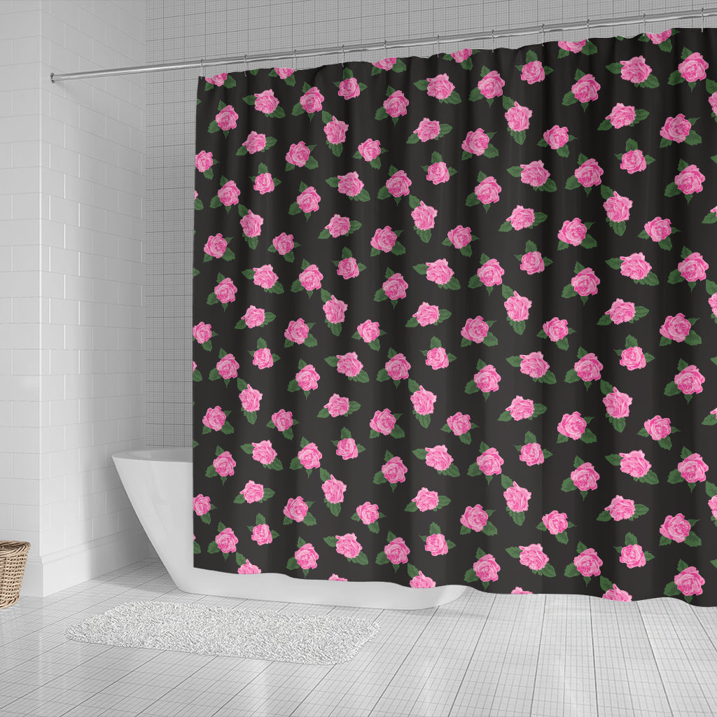 Black Rose Shower Curtain