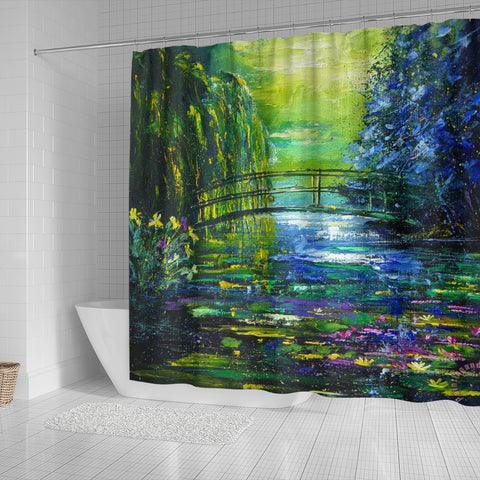 Pol Ledent After Monet Shower Curtain - STUDIO 11 COUTURE
