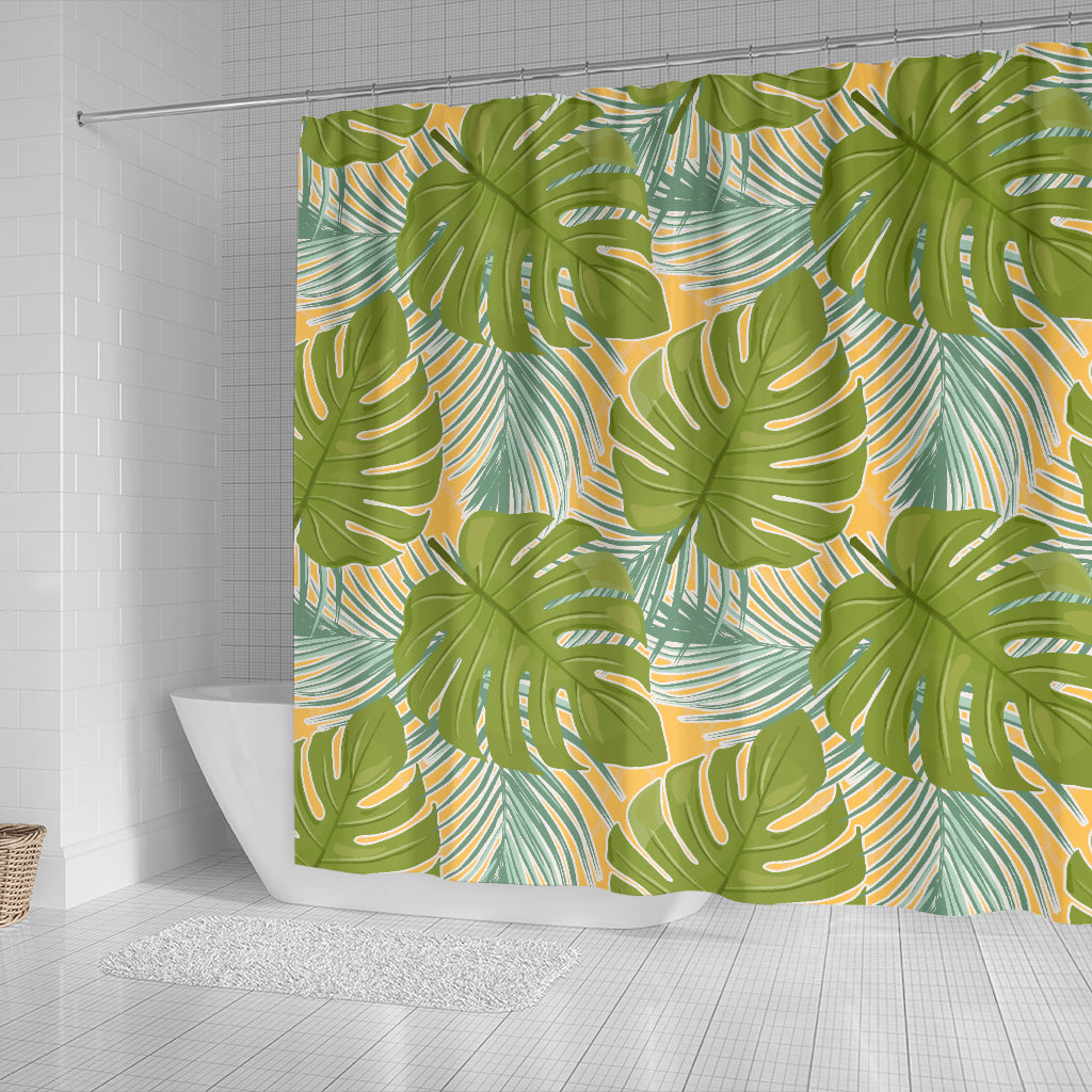 Tropical Palm Leaves Shower Curtain - STUDIO 11 COUTURE
