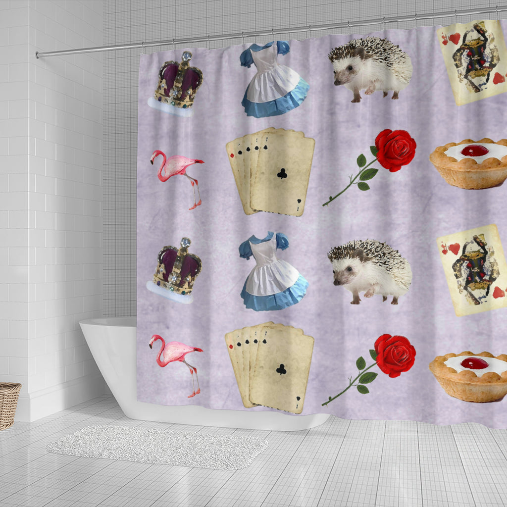 Cards And Roses Alice In Wonderland Shower Curtain