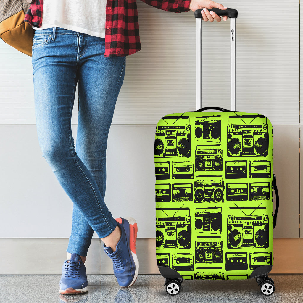 80s Boombox 4 Luggage Cover - STUDIO 11 COUTURE
