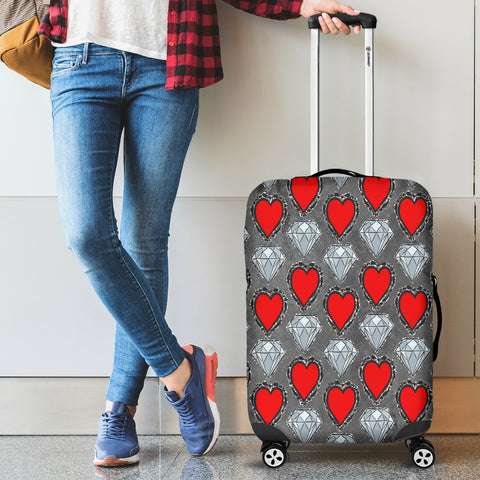 Hearts and Diamonds Luggage Cover - STUDIO 11 COUTURE