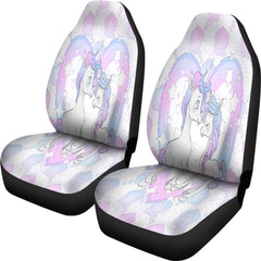 Unicorn In Love Car Seat Covers