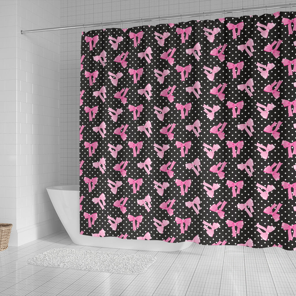 Black Bows Shower Curtain