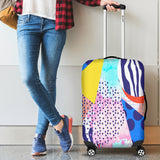 80s Fashion Girl 8 Luggage Cover - STUDIO 11 COUTURE