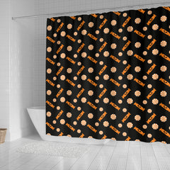 Orange Trick Or Treat Candy Shower Curtain