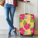 Tropical Red Flower Luggage Cover - STUDIO 11 COUTURE