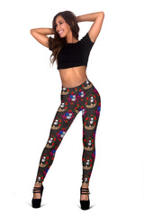 Women Leggings Sexy Printed Fitness Fashion Gym Dance Workout Sugar Skull Theme I12