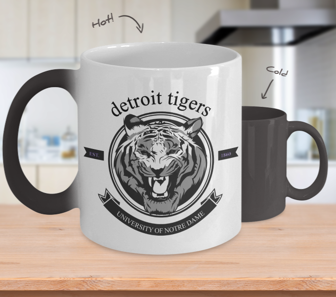 Color Changing Mug Animals University Of Notre Dame Detroit Tigers