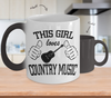 Image of Color Changing Mug Random Theme This Girl Loves Country Music