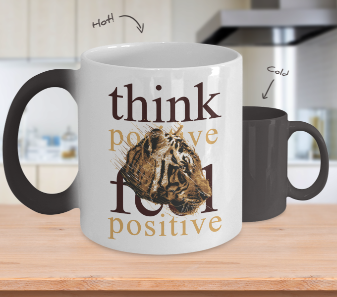 Color Changing Mug Animals Think Positive Think Positive
