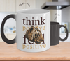 Image of Color Changing Mug Animals Think Positive Think Positive