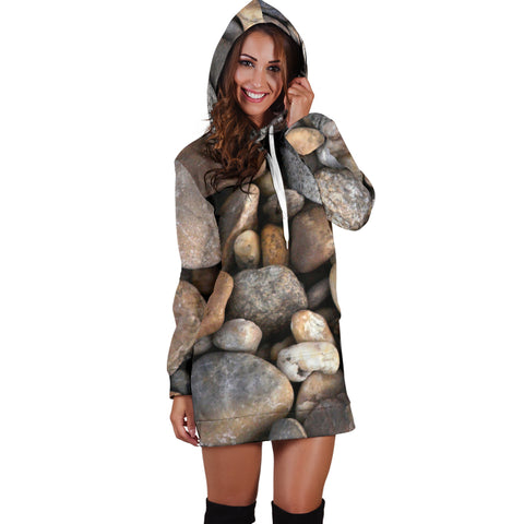 Rocks Nature Women's Hoodie Dress