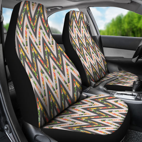 Awesome Zigzag Floral Car Seat Covers