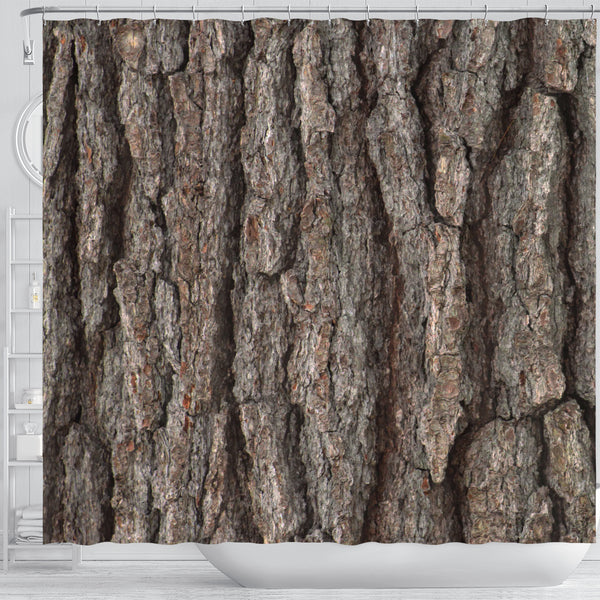 Tree Bark Shower Curtain - STUDIO 11 COUTURE