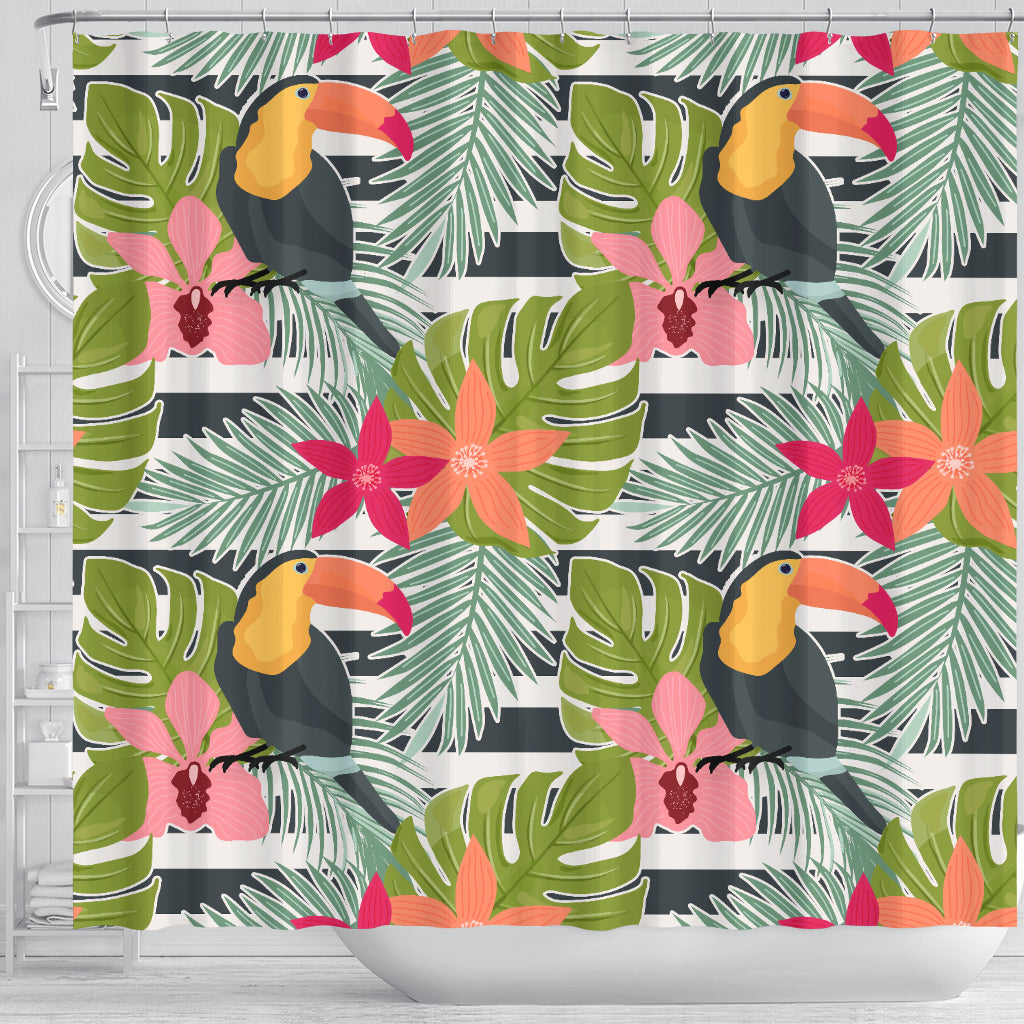Tropical Tucan Bird Shower Curtain - STUDIO 11 COUTURE