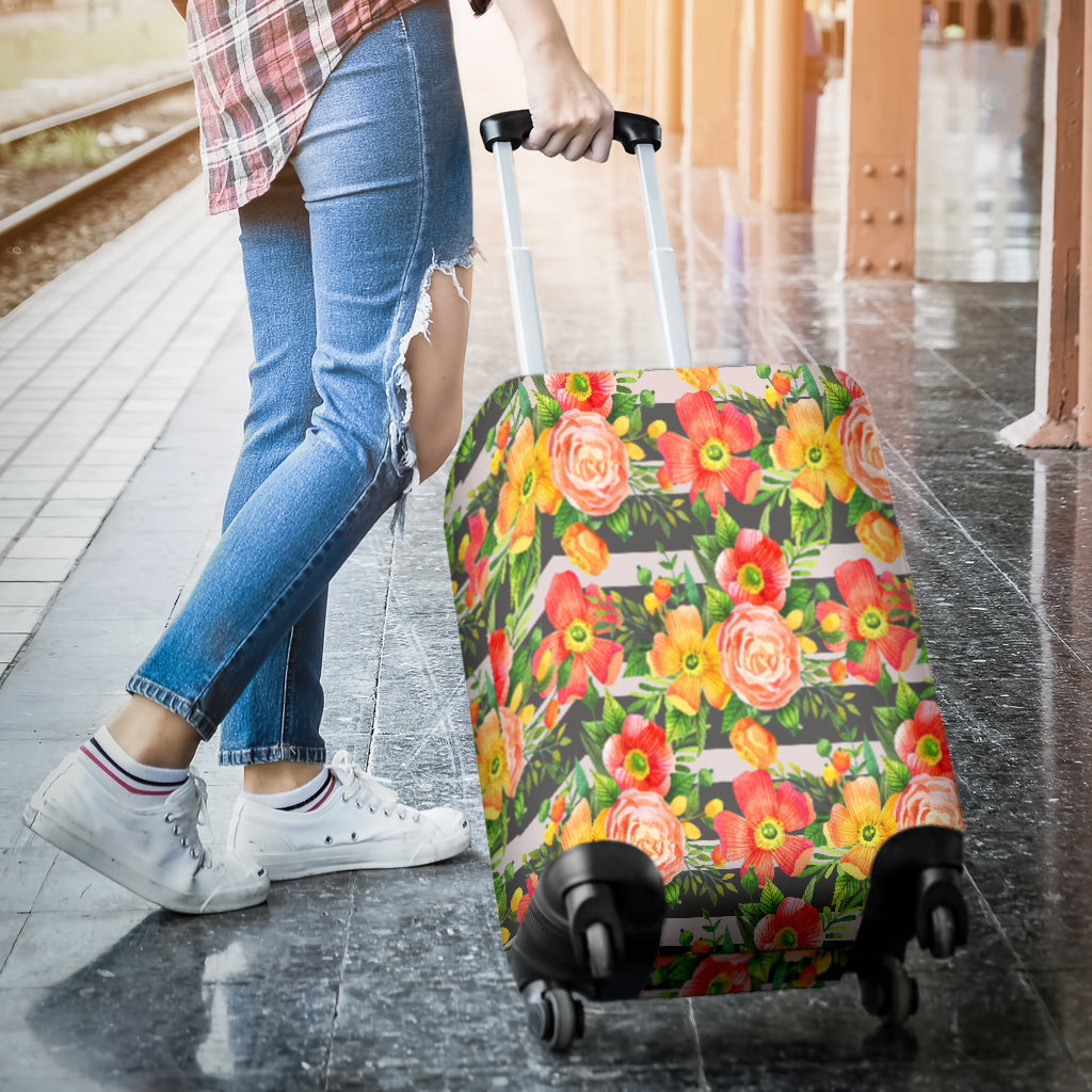 Floral Spring Luggage Cover