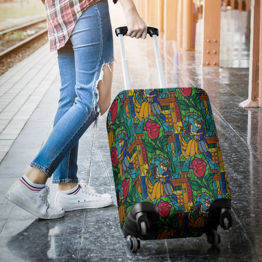 Beauty And The Beast Stained Luggage Cover