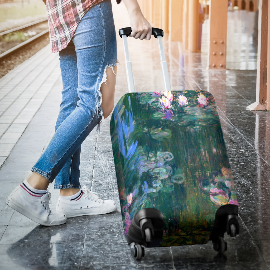 Claude Monet Water Lilies Luggage Cover