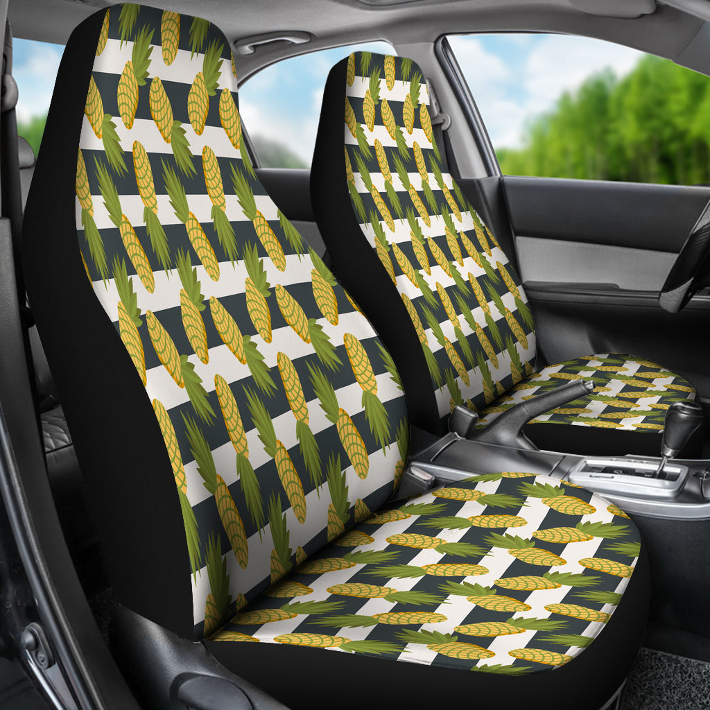 Tropical Stripe Pineapple Car Seat Covers