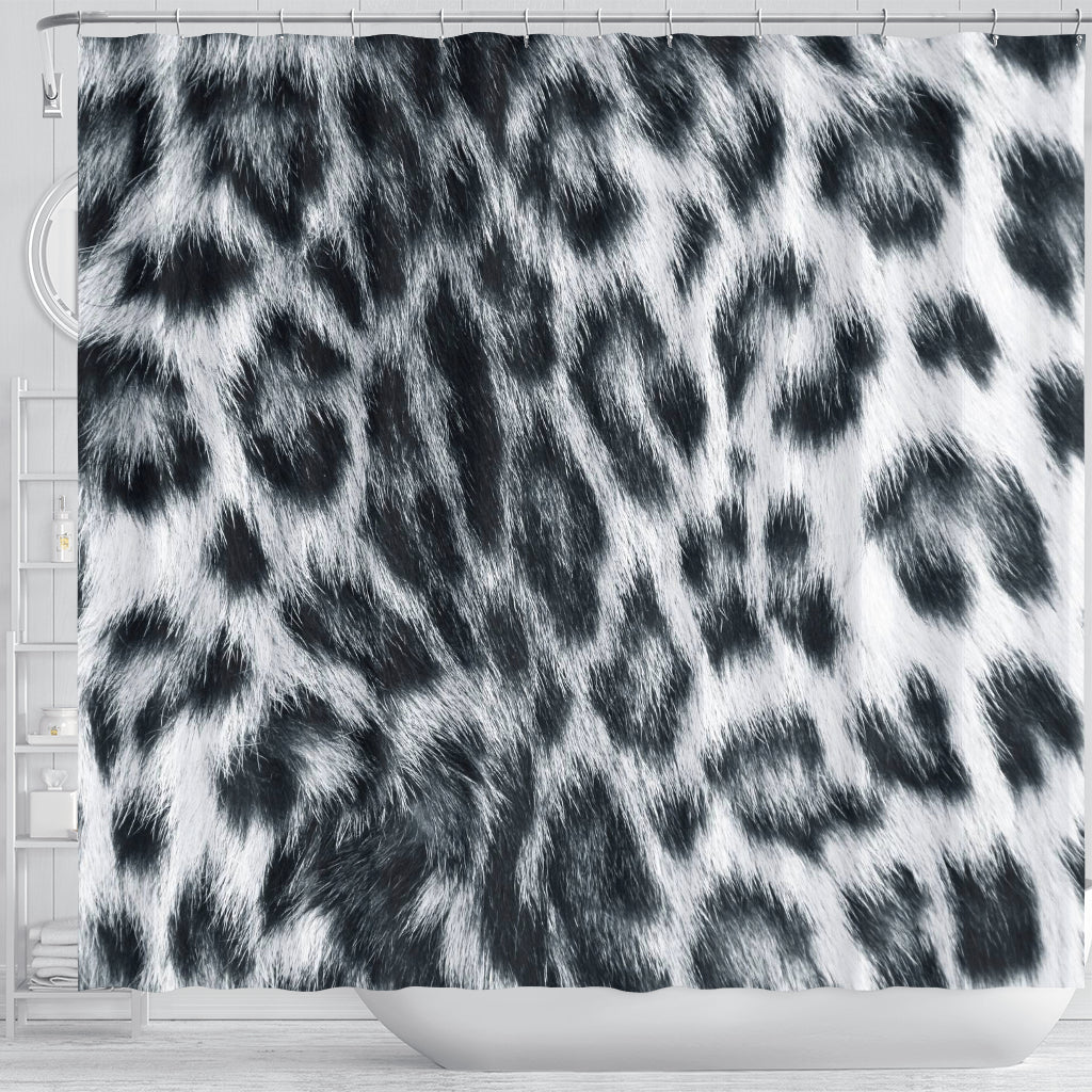 Snow Leopard Skin Shower Curtain