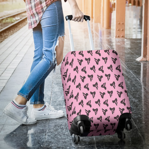 Pink Bows Luggage Cover - STUDIO 11 COUTURE