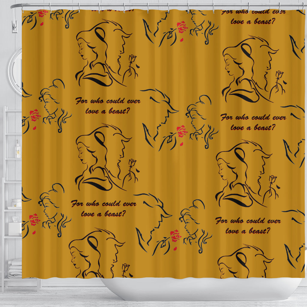 Beauty And The Beast Love Shower Curtain