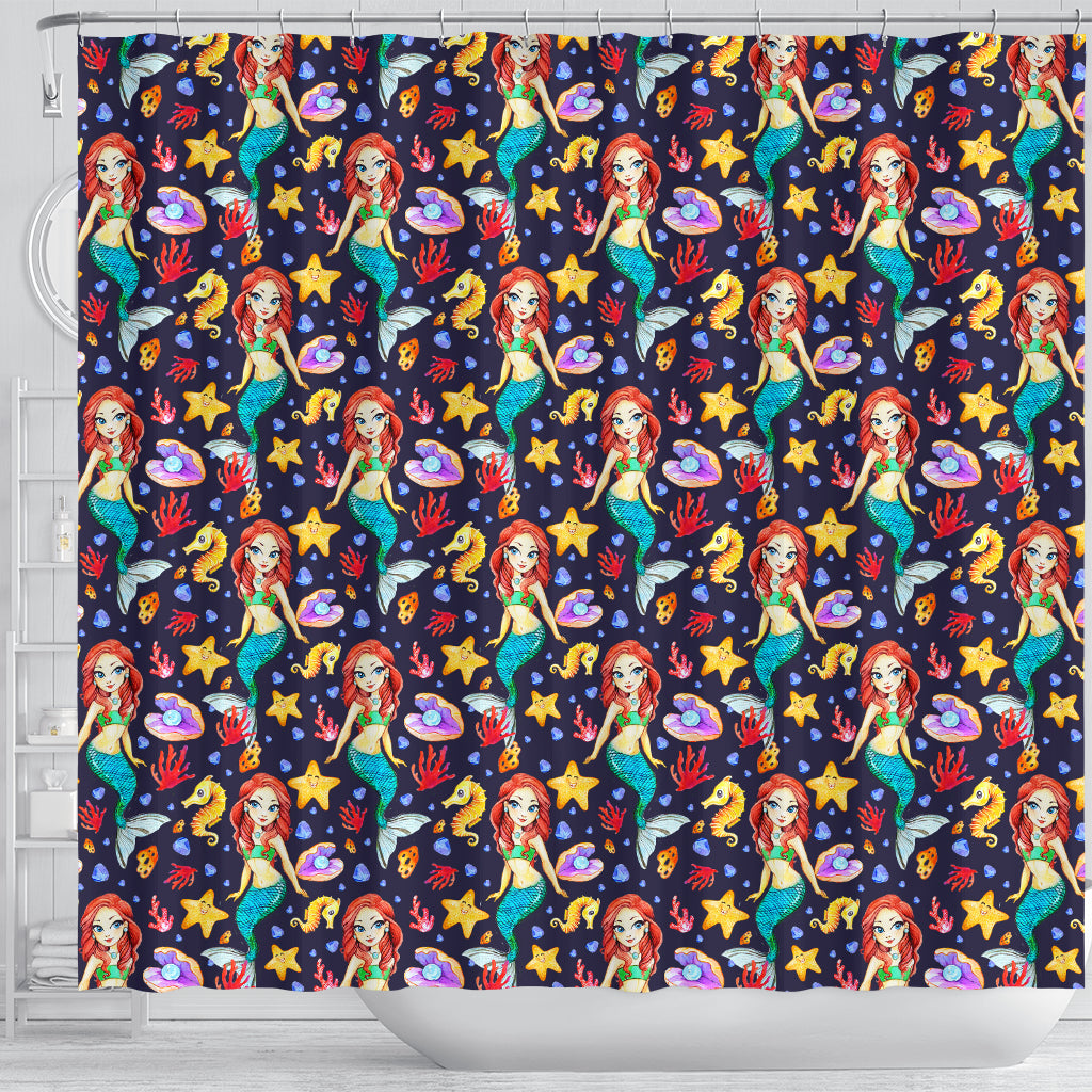 Mermaid 2 Shower Curtain - STUDIO 11 COUTURE