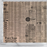 Old Newspaper 3 Shower Curtain - STUDIO 11 COUTURE