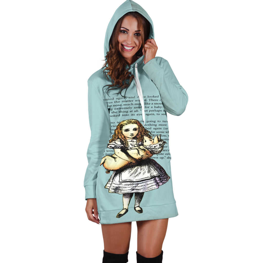 Alice And The Pig Women's Hoodie Dress