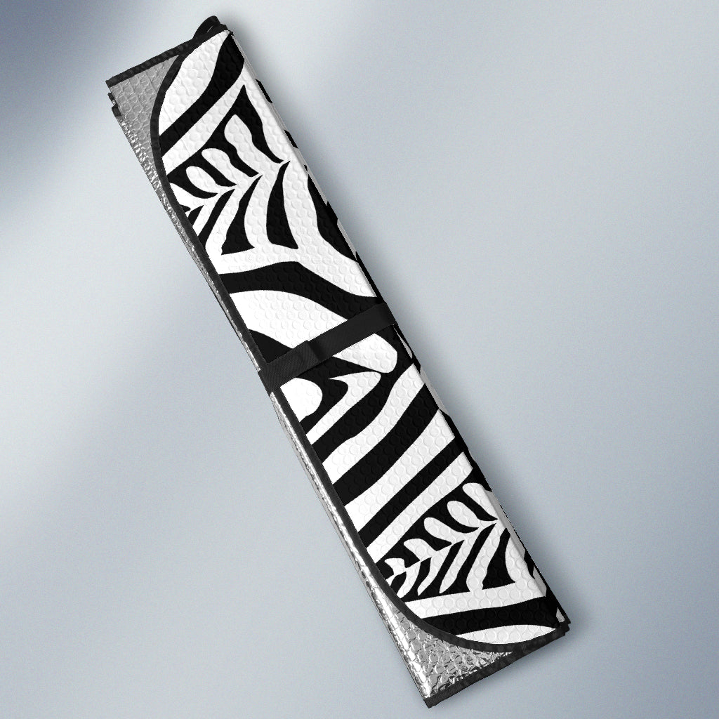 Black and White Animal Skin Auto Sun Shades