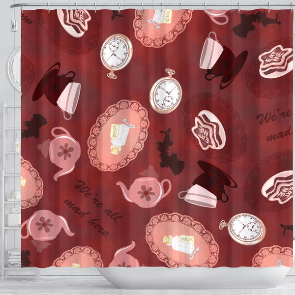 Mad Hatter Alice In Wonderland Shower Curtain