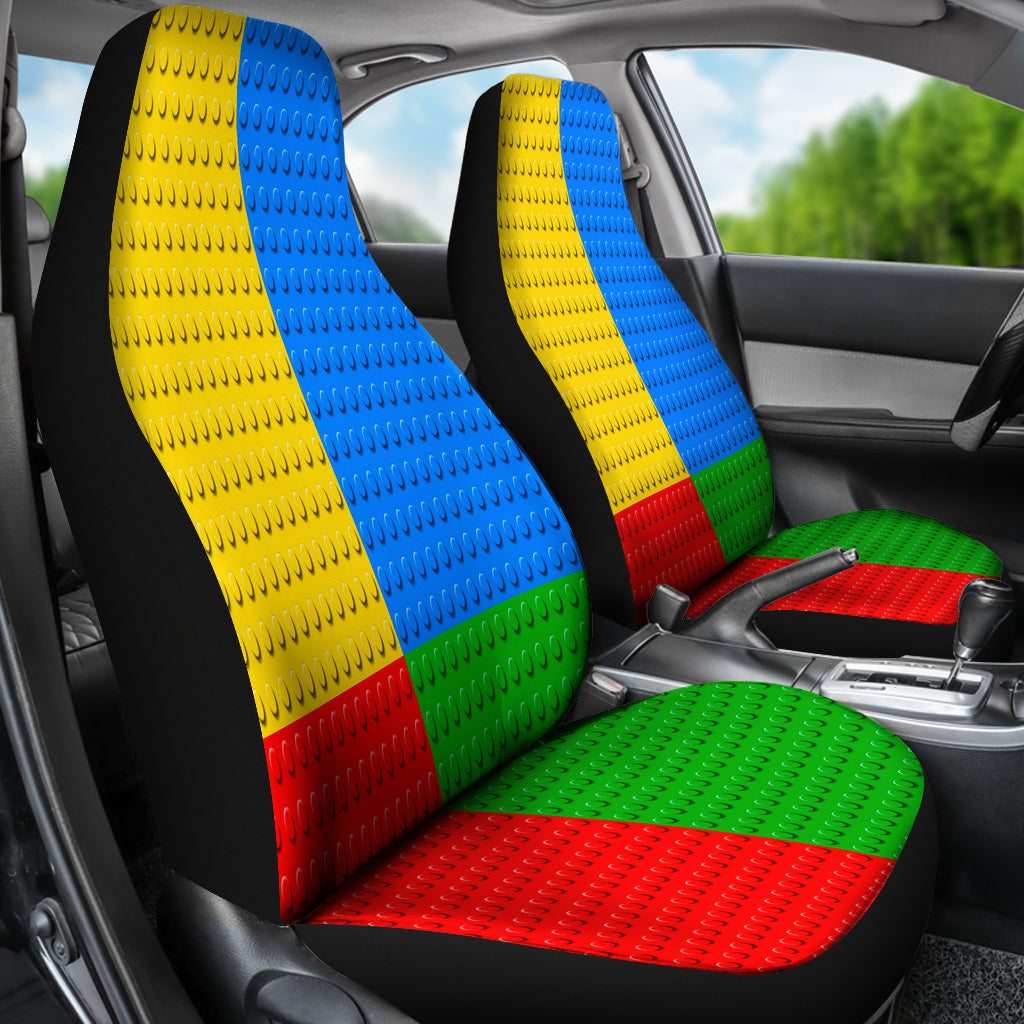 Legos Building Blocks Car Seat Covers