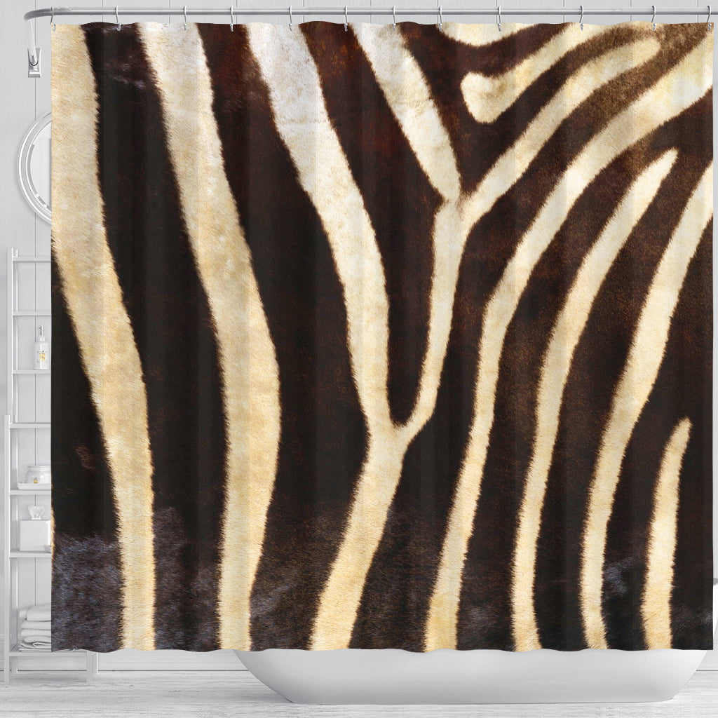 Zebra Skin Shower Curtain - STUDIO 11 COUTURE