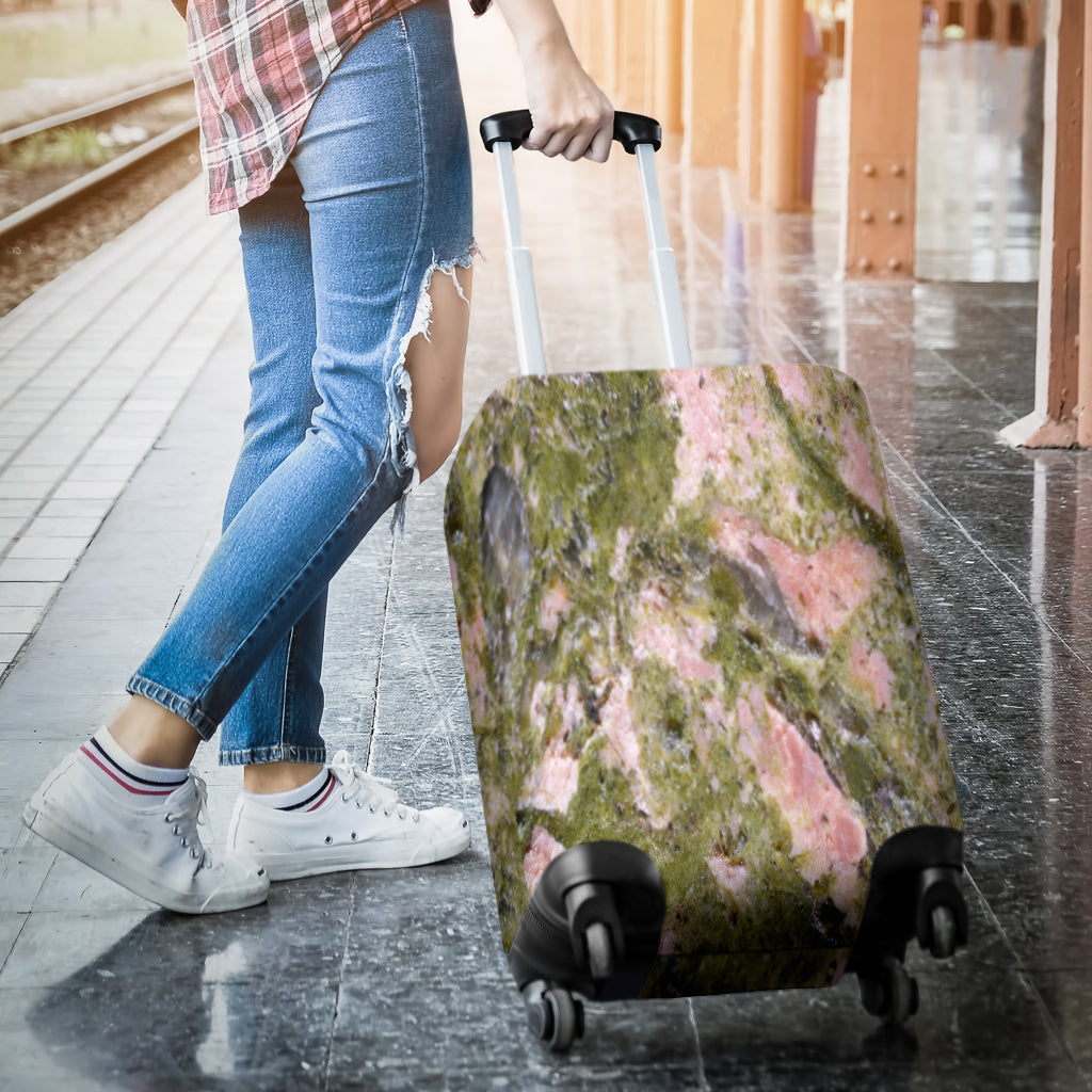 Dirty Algae Marble Tile Luggage Cover - STUDIO 11 COUTURE