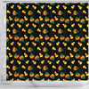 Image of Candy Corn Halloween Shower Curtain