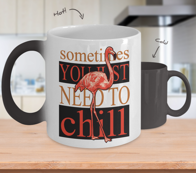 Color Changing Mug Animals Sometimes You Just Need To Chill