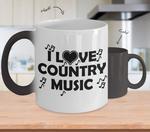 Color Changing Mug Music Theme I Love Country Music