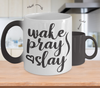 Image of Color Changing Mug Mom Wake Pray Slay