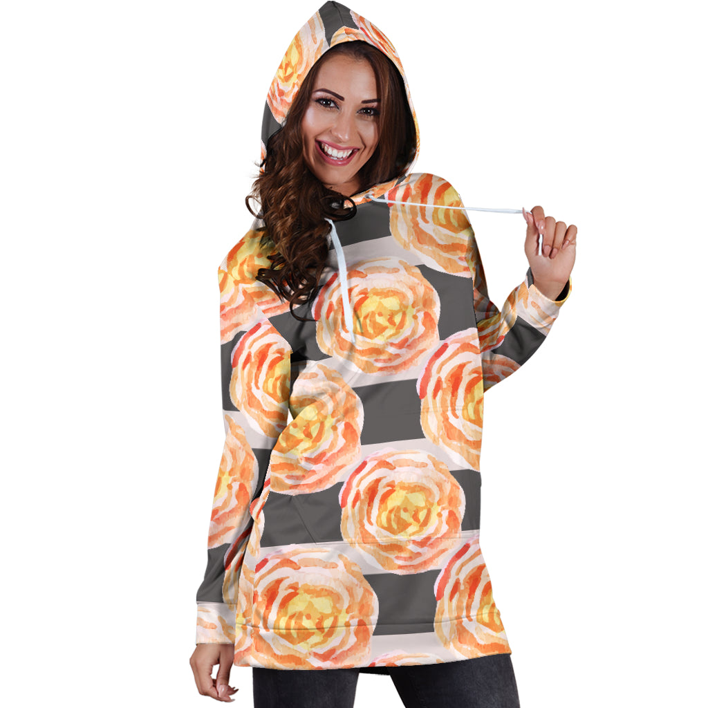 Astonishing Floral Spring Sexy Trendy Women Teen Long Sleeves Hoodie Dress Hooded Tunic